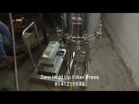 Zero Hold Up Sparkler Filter Press