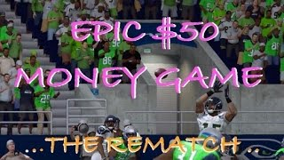 Litezout vs Serious Moe The REMATCH! | $50 Money Game | Madden 15 Online Gameplay