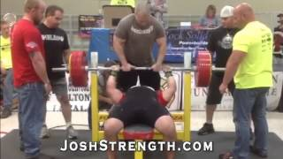 Jeremy Hoornstra - World Record Raw Bench Press - 672.4 - Body Weight 246.4