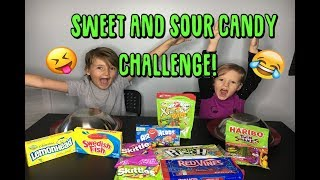 SWEET vs SOUR CANDY CHALLENGE Airheads, Twin Snakes, & More! by Red Kids Rock