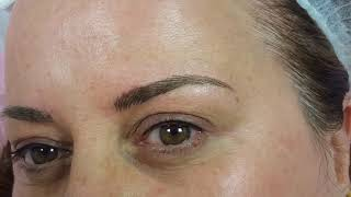 Slim Eyebrows Microblading & Pencil style Eyeliner by El Truchan @ Perfect Definition