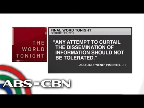 [ABS-CBN]  Final Word – October 20, 2019 | ANC