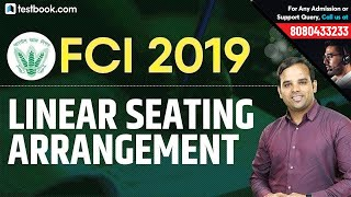 Linear Seating Arrangement for FCI 2019 | Reasoning Class by Sachin Sir | Crack FCI JE