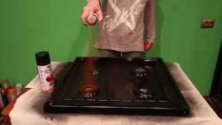 Краска жаростойкая  BOSNY 520мл (до 600 градусов С) аэрозольная от компании Мир Очистителей - видео