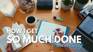 How I study 8 hours per day, make videos & enjoy life