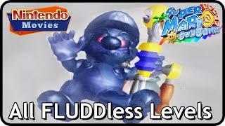 Super Mario Sunshine - All F.L.U.D.D.less Levels