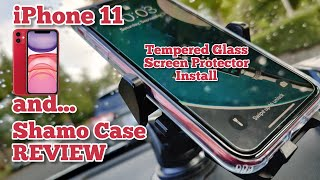 iPhone 11 Shamo Clear Case Review & Tempered Glass Screen Protector Install...