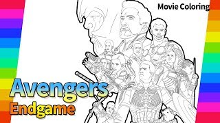 Marvel Avengers End Game | The Movie Poster Draw | Super Hero | drawing and coloring pages