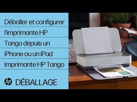 Comment déballer et configurer l'imprimante de la série HP Tango depuis un iPhone ou un iPad