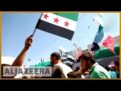 Protests held in Idlib demanding Assad leaves power | Al Jazeera English