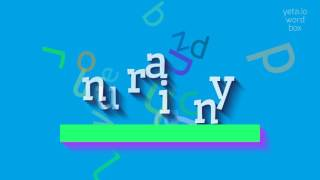 """How to say """"unrainy""""! (High Quality Voices)"""