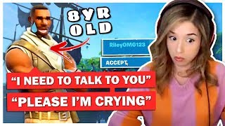 8 Year Old SCARES Pokimane with Message on Fortnite!