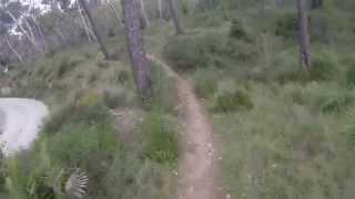 preview picture of video 'Descenso MTB Puig Son Sant Marti-Alcúdia'