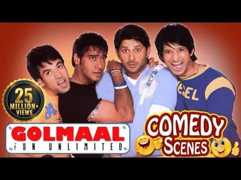 Golmaal Fun Unlimited - All Comedy Scenes - Ajay Devgn - Arshad Warsi #IndianComedy
