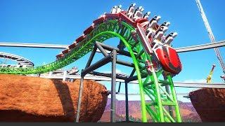 The Mega Spiral Drop?! - Planet Coaster Area43