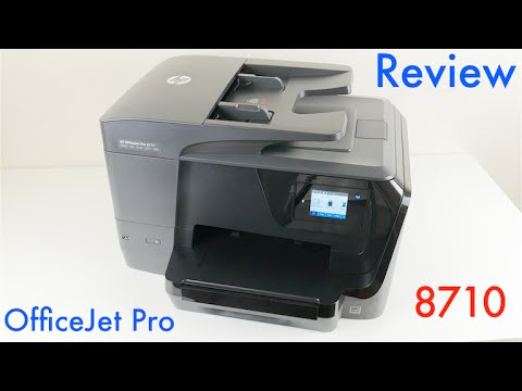 HP OfficeJet Pro 8710 Wireless All-in-One Inkjet Printer Review