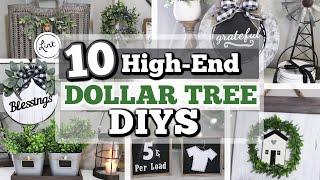 10 HIGH-END DOLLAR TREE DIYS 2020   GORGEOUS HIGH-END Home Decor Using Dollar Tree ITEMS!