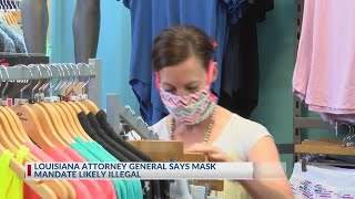 Louisiana attorney general says mask mandate likely illegal