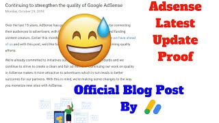 Adsense Each Site Approval Update Official Proof By Adsense Official Blog | Techy Uday