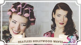Heatless Old Hollywood 1950s Waves // How To Curl Your Hair