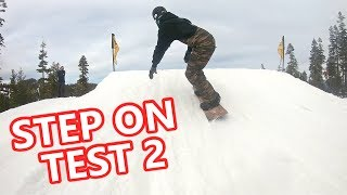 Testing the Burton Step Ons at Northstar Terrain Park