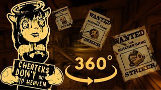 This Is Why WANDERING IS A SIN | Bendy & the Ink Machine Chapter 4 VR 360 (w/ HEART RATE MONITOR)
