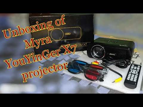 Unboxing of Myra  TouYinGer X7 Led Projector