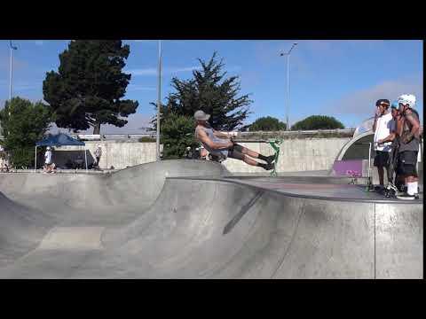 Big Air Invert Scooter Trick