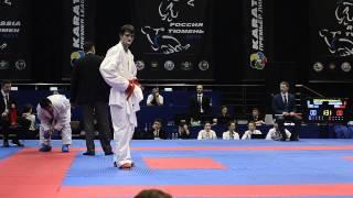preview picture of video 'Shcherban Aleksandr (RUS) - Aghayev Rafael (AZE). Karate1. Tyumen, April 2013'