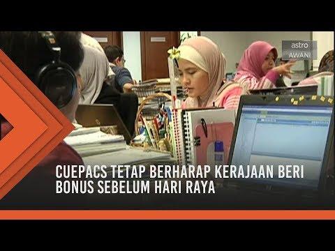 CUEPACS tetap berharap kerajaan beri bonus sebelum hari raya