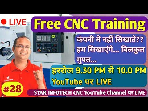 Free CNC Training Live Day 28 / Star Infotech CNC / CNC Machine ...