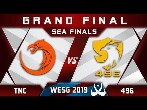 TNC vs 496 Grand Final WESG 2019 SEA Highlights Dota 2