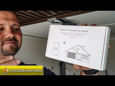 Garagentor per Wlan öffnen / Garagentoröffner WiFi Smart Meross einbauen.