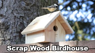 Scrap Wood Birdhouse Using BASIC TOOLS - DIY