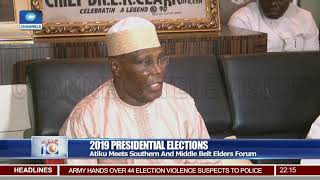 Atiku Meets Southern And Middle Belt Elders Forum