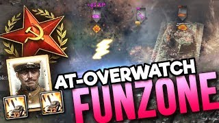 4x ANTI-TANK OVERWATCH: Soviet Funzone [4v4] [SOV] [General Mud] — Full Match of Company of Heroes 2