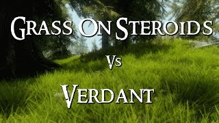 Skyrim Mod Comparison - Grass On Steroids Vs. Verdant (+Unique Grasses & Groundcovers)