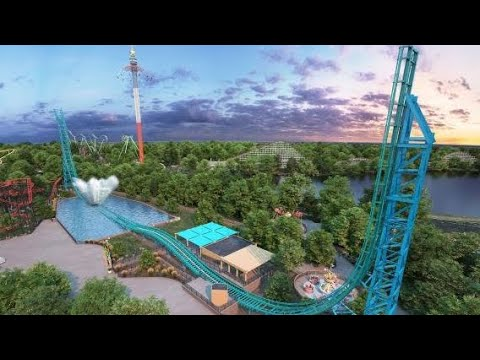Six Flags Over Texas AQUAMAN Power Wave 2020 Coaster!