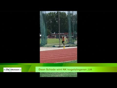 VIDEO | Daan Schade pakt op 't allerlaatste nippertje Nederlandse titel kogelslingeren
