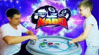 ИНФИНИТИ НАДО БИТВА НА БОЛЬШОЙ АРЕНЕ Мега Волчки Infinity Nado Мультфильм