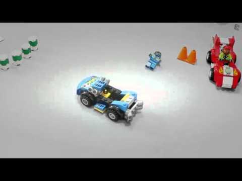 Vidéo LEGO Juniors 10673 : Grande boîte du rallye automobile