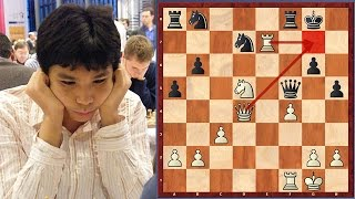 Brilliant Game! Wesley So Sacrifices His Whole Cavalry (Age 13)