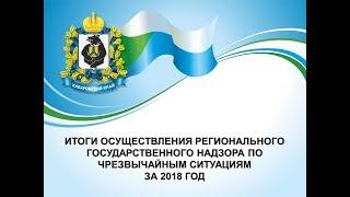 Итоги осуществления регионального государственного надзора по чрезвычайным ситуациям за 2018 год