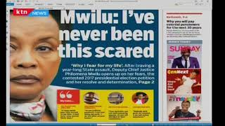 Deputy Chief Justice Philomena Mwilu scared for her life