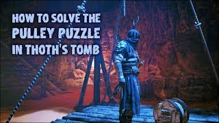 Solving The Pulley Puzzle In Thoths Tomb ⚖️ Assassins Creed: Origins