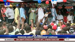 Osun ADP Gov'ship Candidate Adeoti Vows To Free Osun From Shackles If Elected Pt.4 |Live Event|