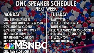 DNC Announces Speakers For Upcoming Convention | Morning Joe | MSNBC
