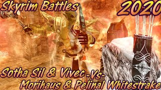 Morihaus And Pelinal Whitestrake -Vs- Sotha Sil And Vivec - Skyrim Battles - Legendary Settings