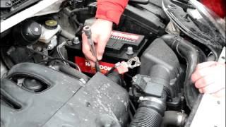 Замена аккумулятора на Peugeot Partner 1.9 дизель - Hankook 74Ah R+