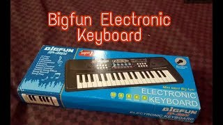 Bigfun BF 430A1 37 Keys  Musical Electronic Keyboard Organ With Mic Melody Mixing For Kid